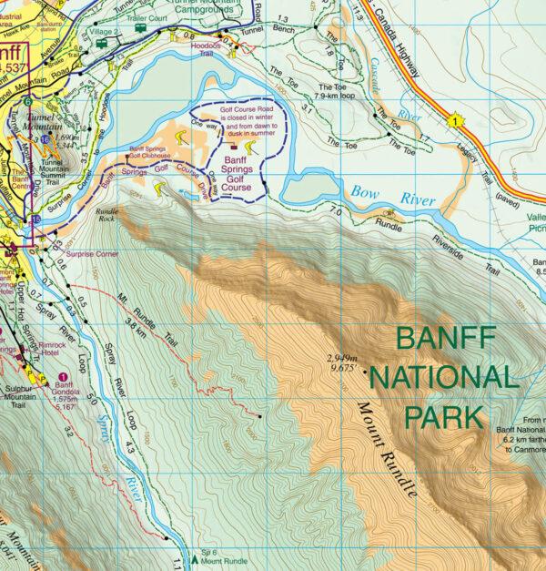 Gem Trek Waterproof Banff Map
