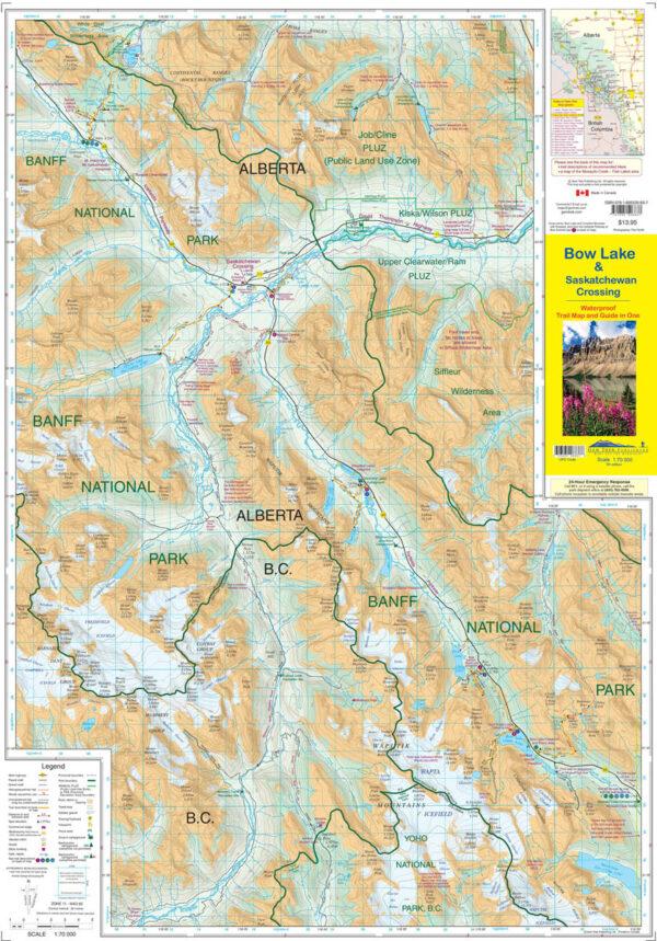 Gem Trek Bow Lake Saskatchewan Crossing Map