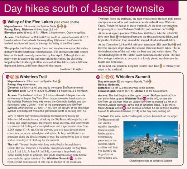 Gem Trek Jasper Maligne Lake Map