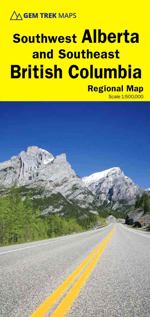 Gem Trek Southwest Alberta Southeast British Columbia Map