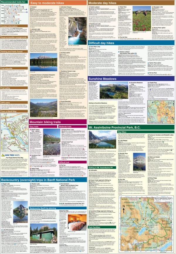Gem Trek Banff Mount Assiniboine Map