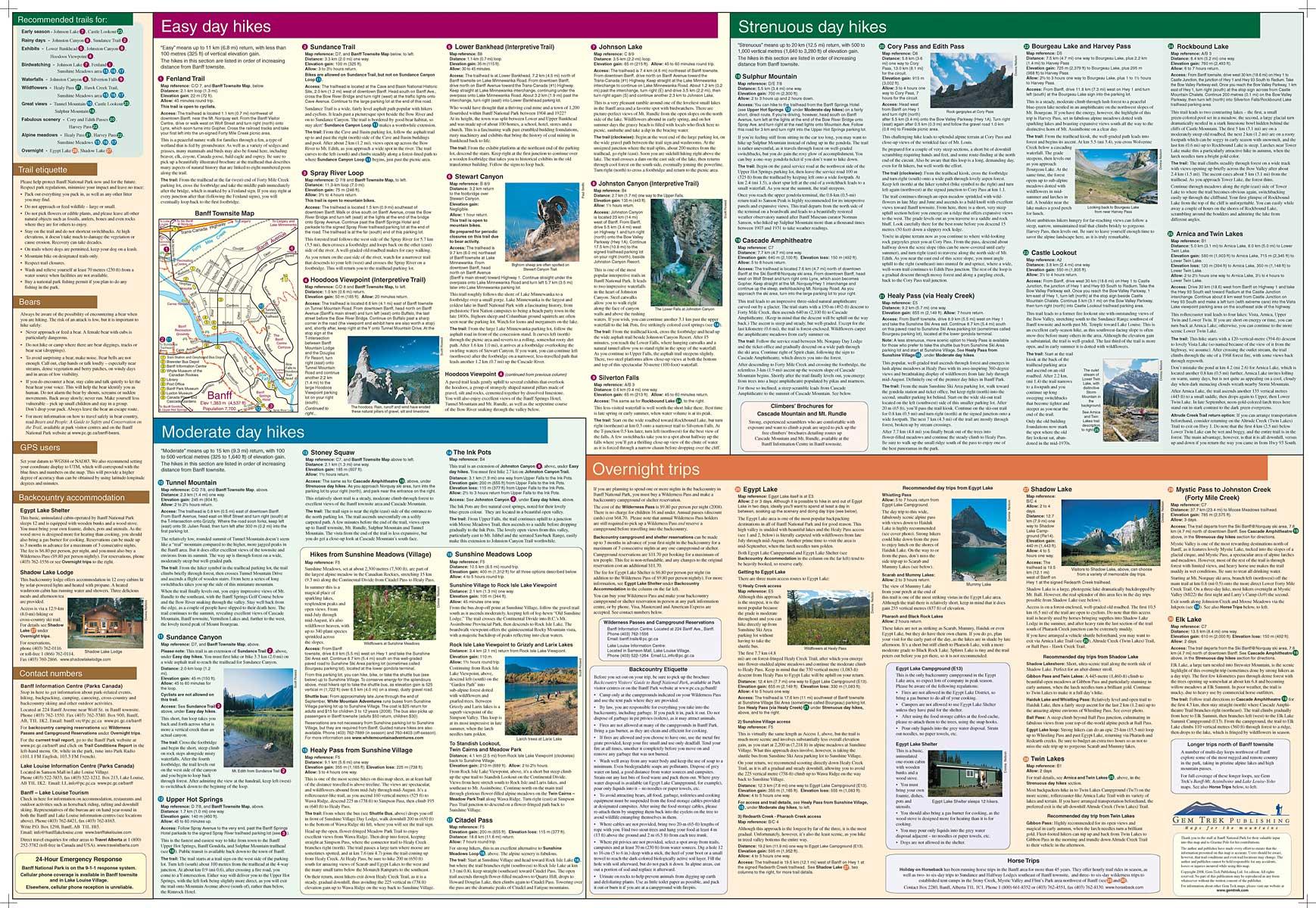 Banff Egypt Lake Map Banff National Park