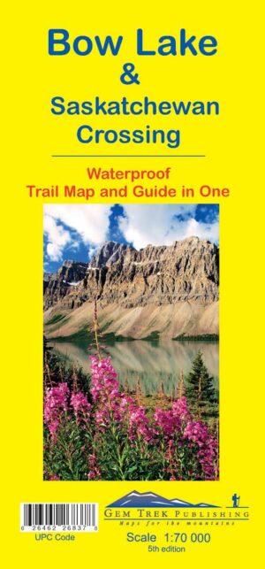 Bow Lake & Saskatchewan Crossing Map