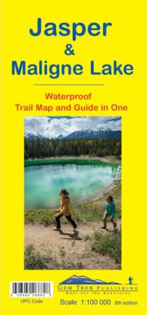 Jasper Maligne Lake Map