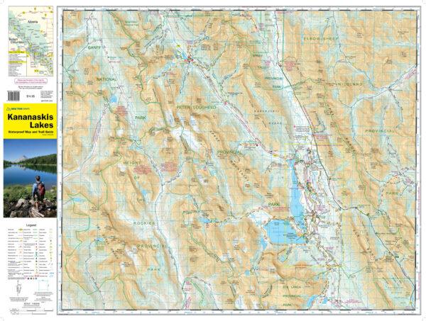 Kananaskis Lakes map side lowrez