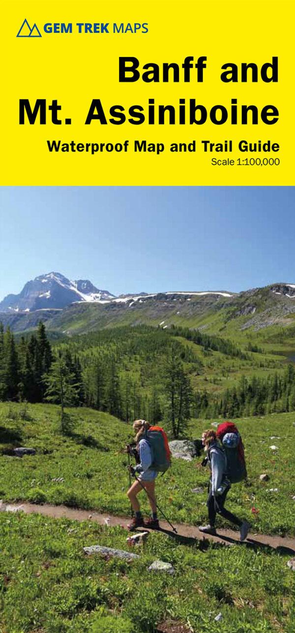 gem trek banff mt assiniboine map | Canadian Rockies Map