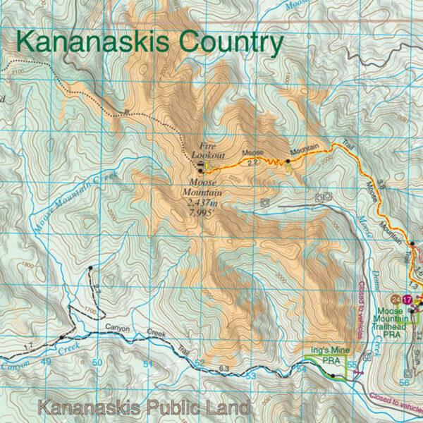 Gem Trek Bragg Creek Sheep River Map