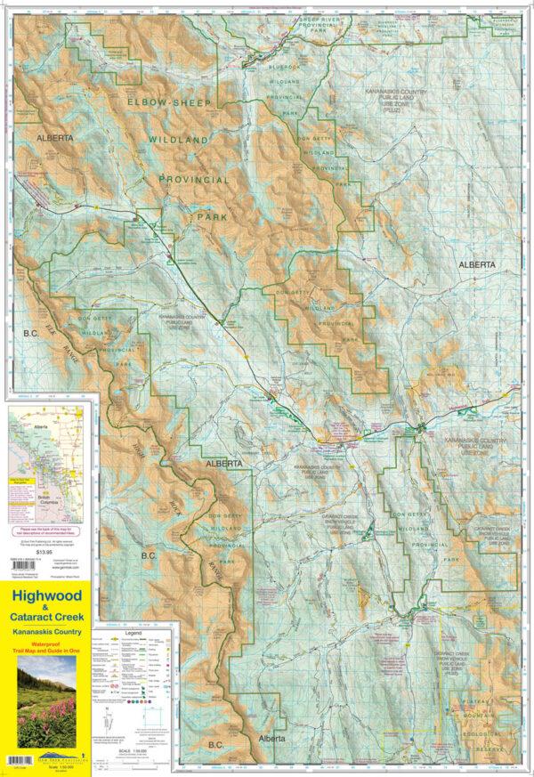 Gem Trek Highwood Cataract Creek Map