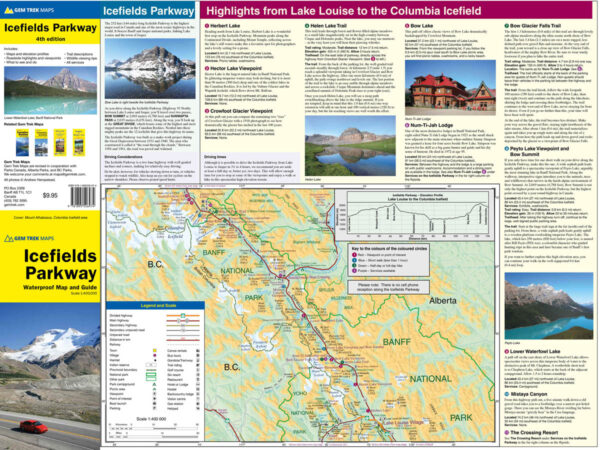 Gem Trek Icefields Parkway Map