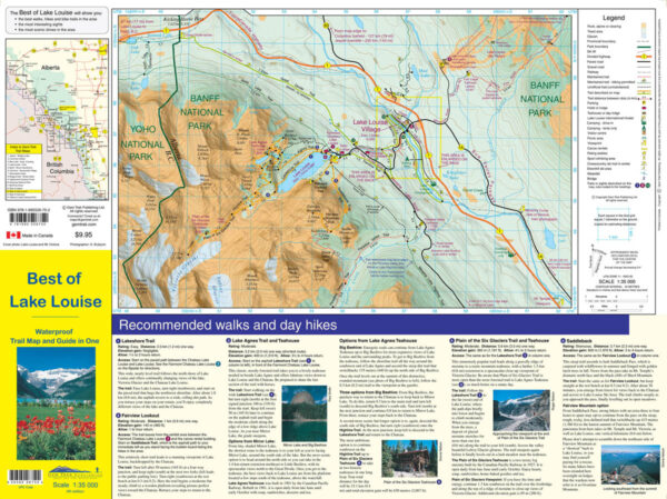 Gem Trek Lake Louise Map